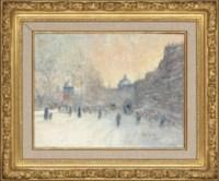 A Parisian boulevard in Winter