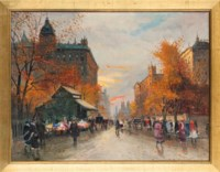 A boulevard in Autumn
