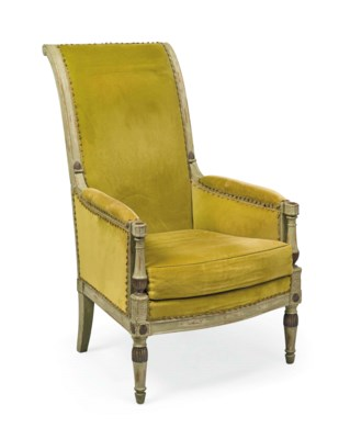 A DIRECTOIRE PALE GREEN AND DA