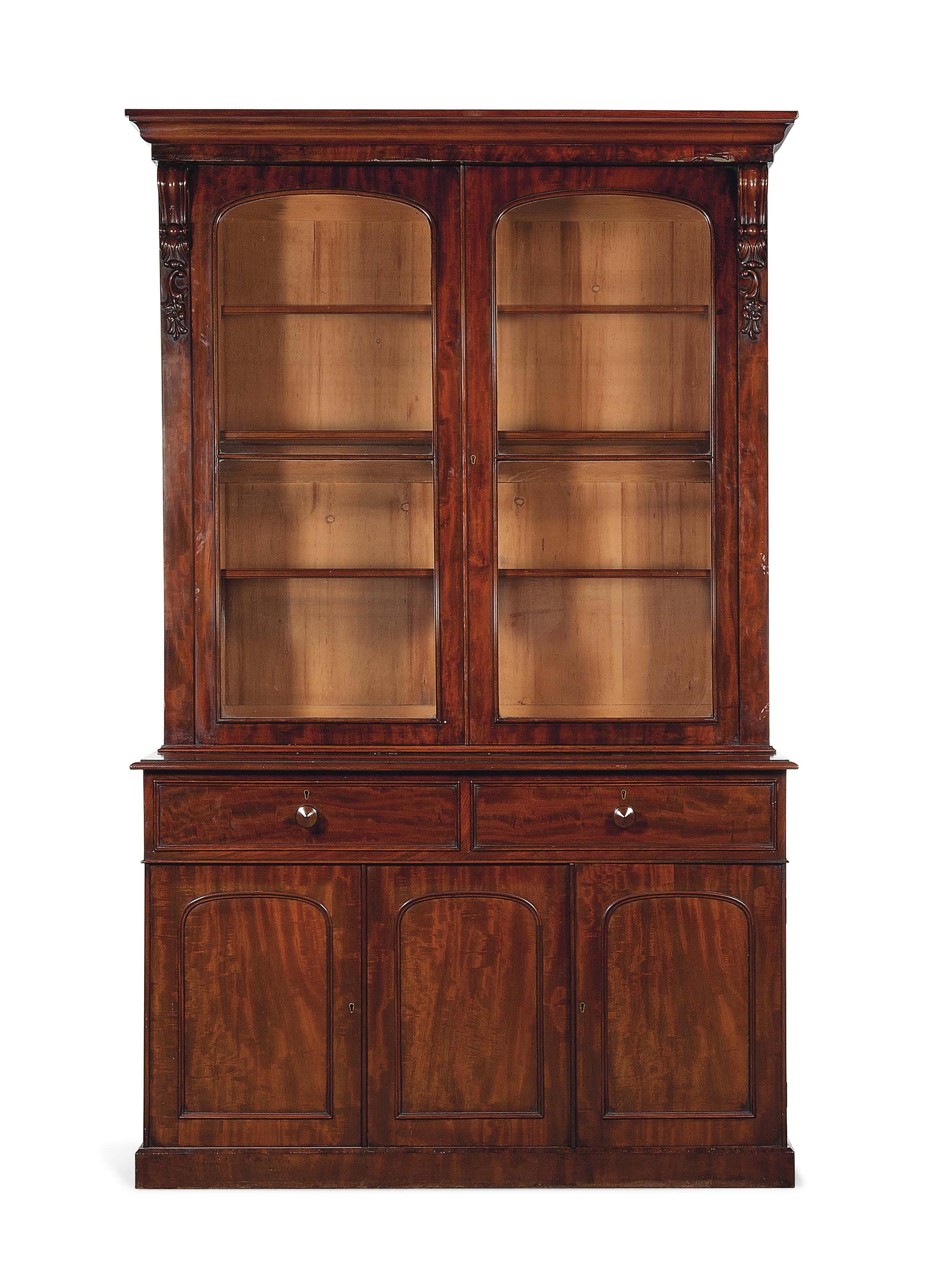 An Early Victorian Mahogany Bookcase Circa 1850 Bookcase