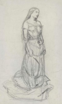 Study of Effie Millais as Agnes for 'The Eve of Saint Agnes'