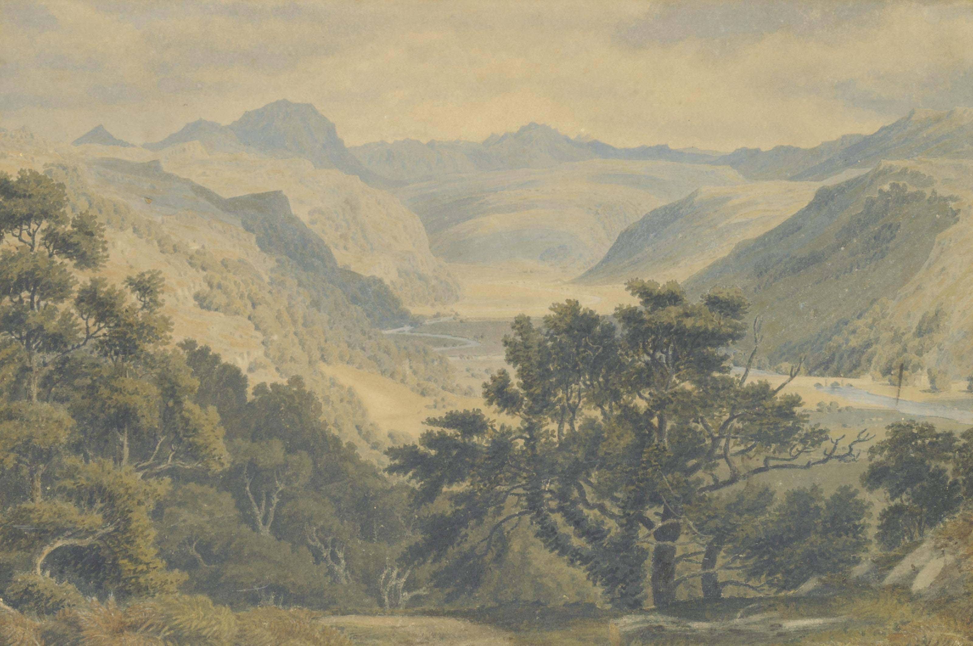 View of the Vale of Festiniog, North Wales