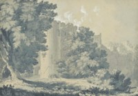 View of a castle and trees