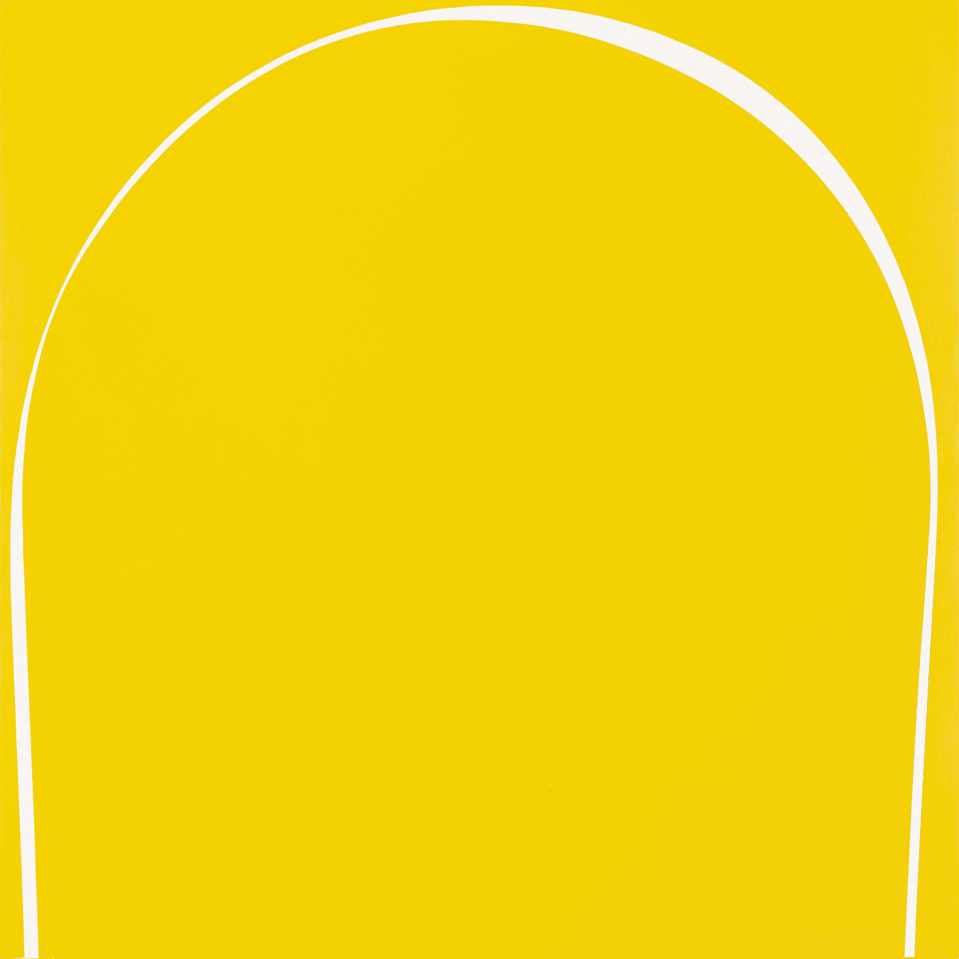 Poured Painting: Yellow, White, Yellow