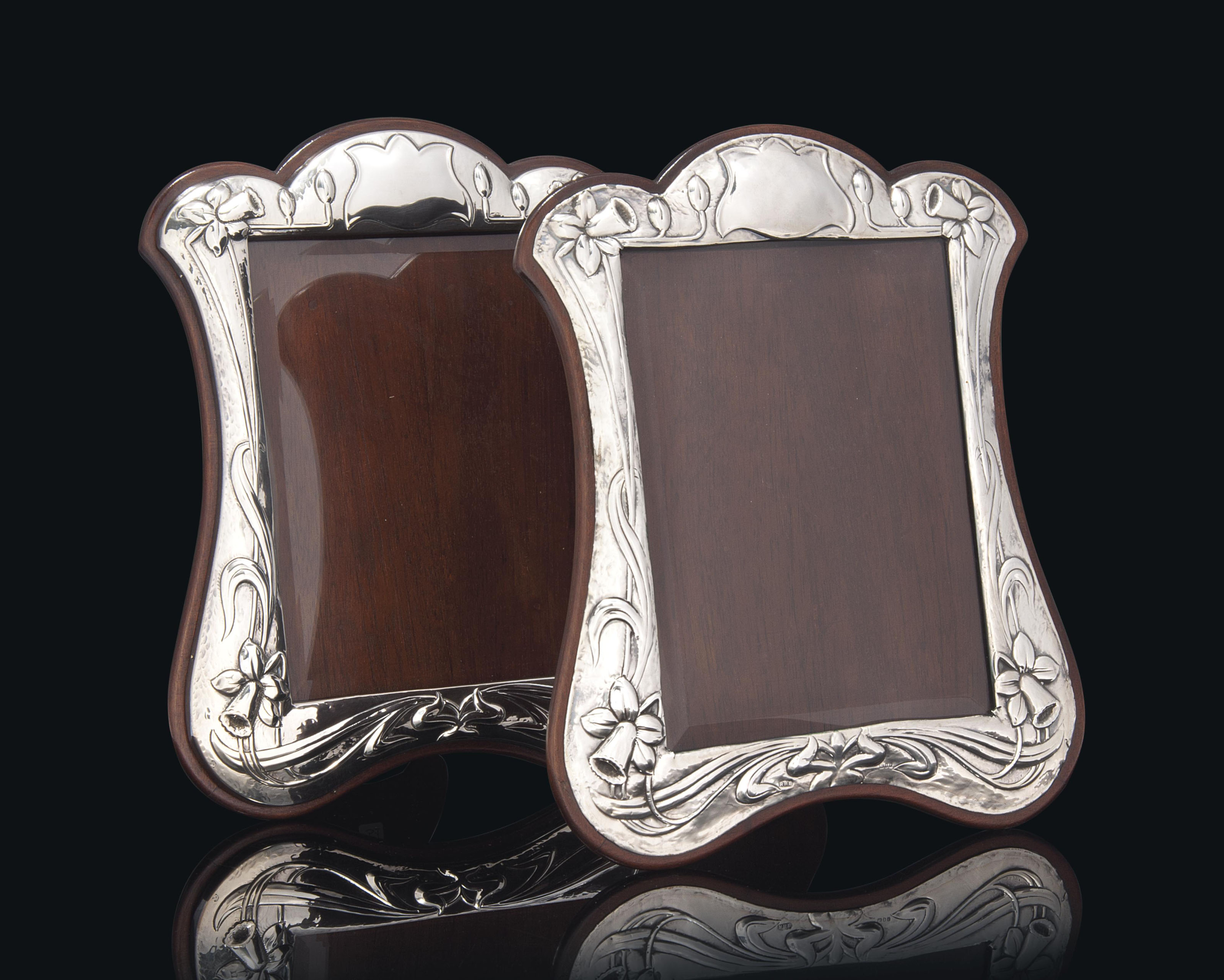 A MATCHED PAIR OF SILVER PHOTOGRAPH FRAMES