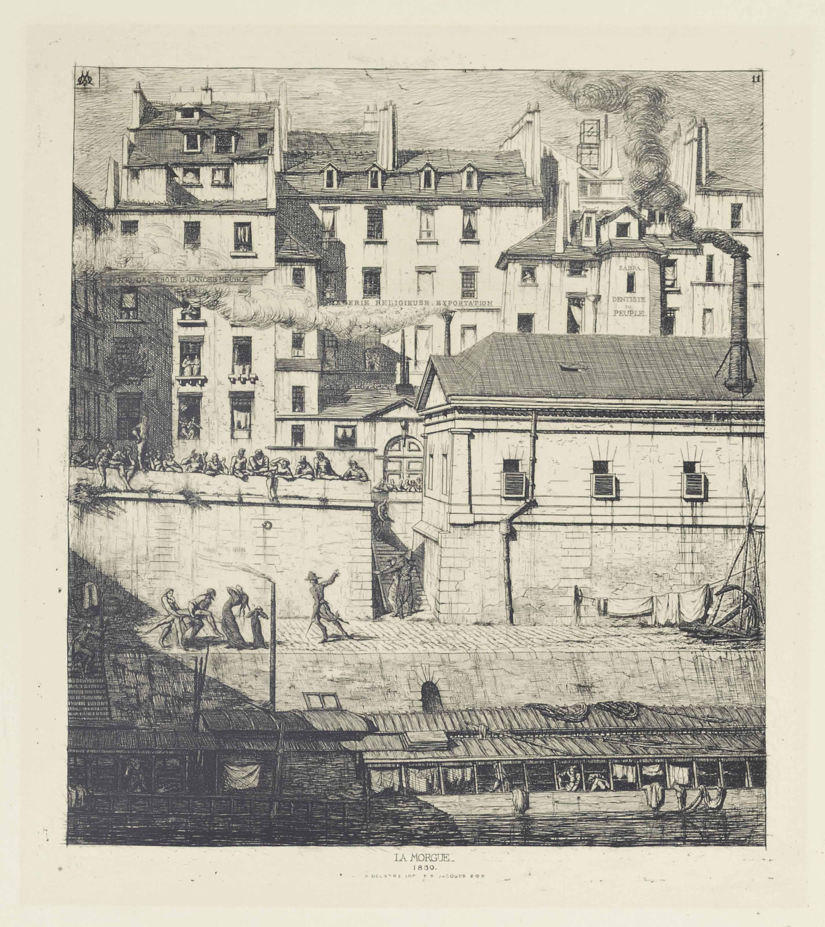 La Morgue, Paris (Delteil & Wright 36)