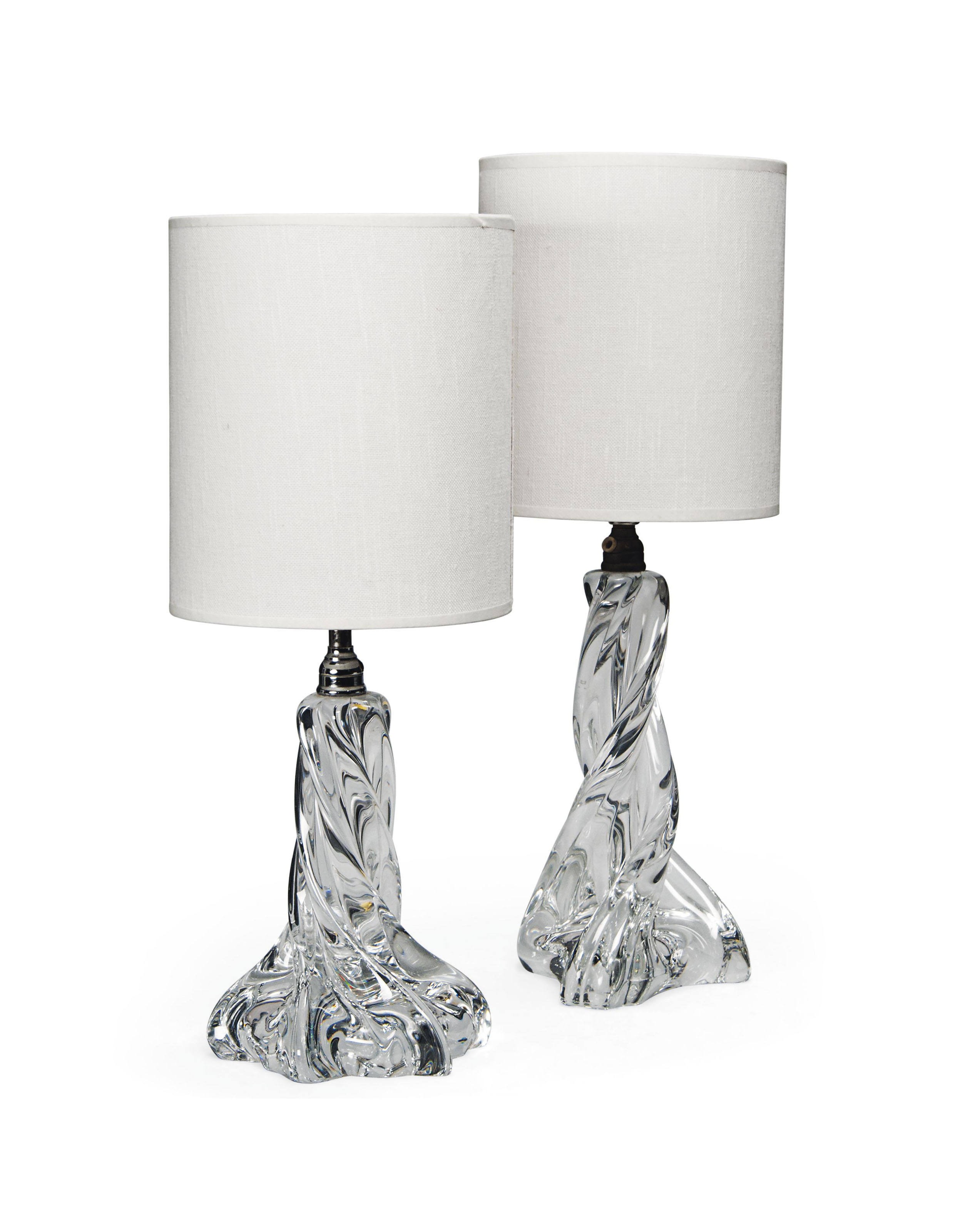Fine A Pair Of French Glass Table Lamps By Baccarat Circa 1950 Download Free Architecture Designs Ferenbritishbridgeorg