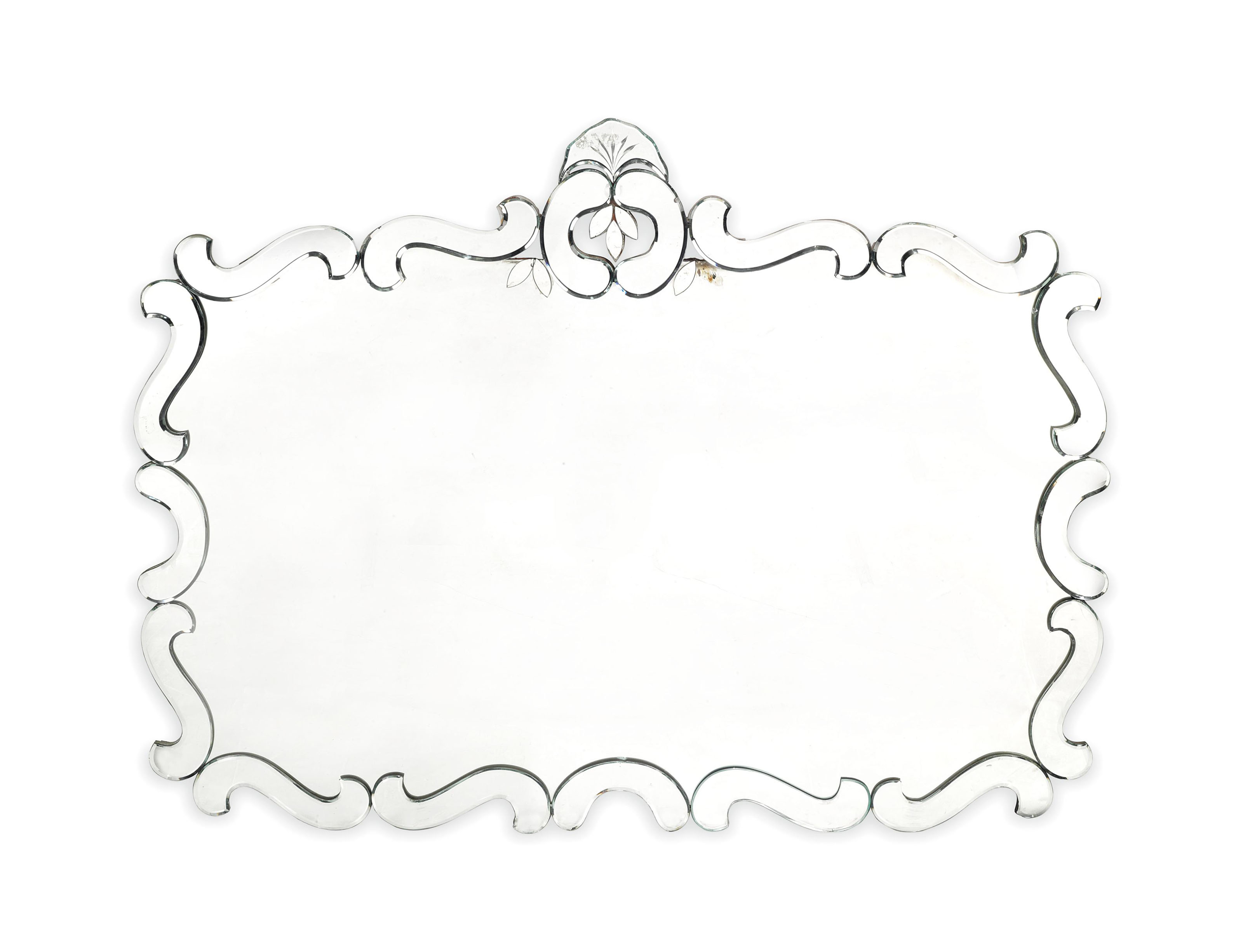 A LARGE MIRROR ATTRIBUTED TO D