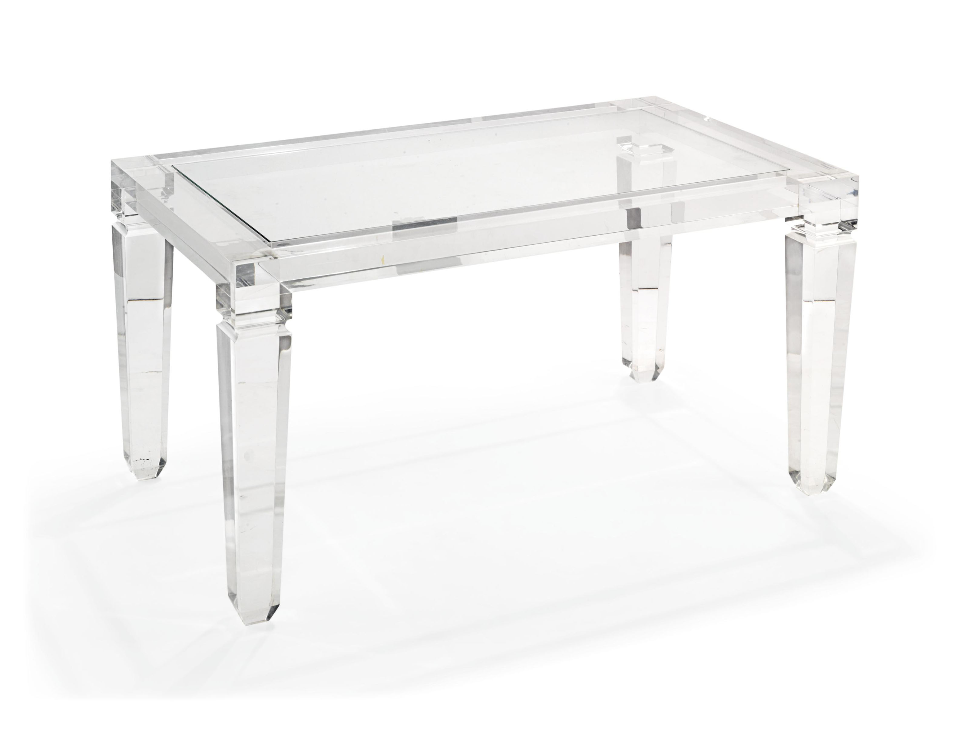 A PERSPEX LOW TABLE