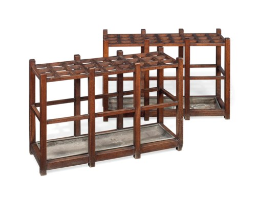A PAIR OF VICTORIAN OAK COUNTR