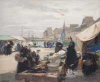 Bretons at a market