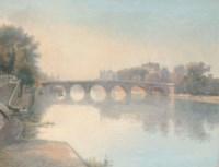 Dusk on the Seine before the Pont Neuf, Paris