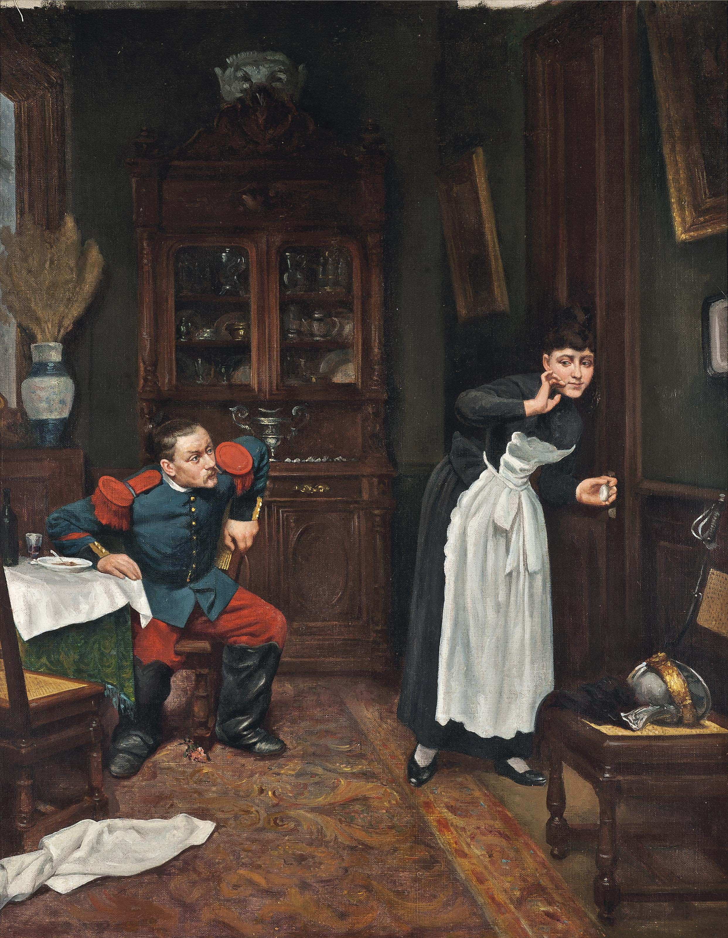 Courting the maid