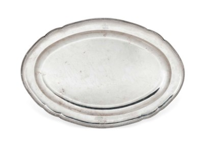 A GEORGE III SILVER MEAT-DISH