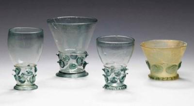 FOUR WALDGLAS PRUNTED GLASSES