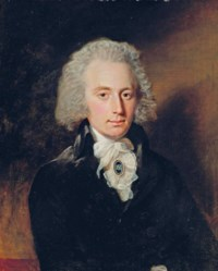 Portrait of a gentleman, thought to be Colonel Francis Abbott, half-length, in a black coat and white stock