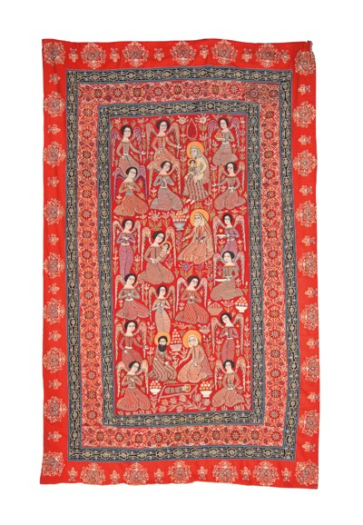 AN EMBROIDERED PANEL WITH A NA