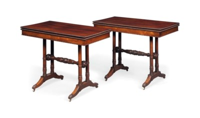 A PAIR OF GEORGE IV ROSEWOOD C