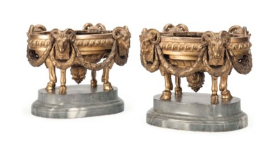 A PAIR OF FRENCH GILT-BRONZE J