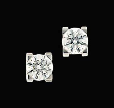 A pair of 'C de Cartier' diamo