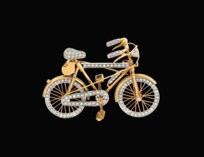 A diamond-set novelty brooch a