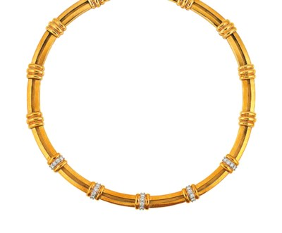 A diamond-set 'Atlas' necklace
