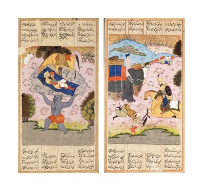 FIVE FOLIOS FROM AN ILLUSTRATE