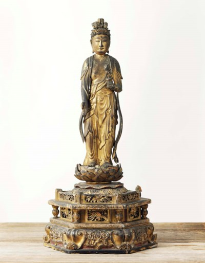 A Wood Figure of Juichimen Kan