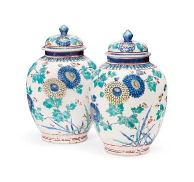 A Fine Pair of Kakiemon Vases