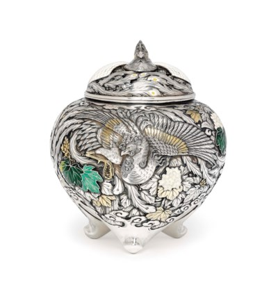 An Enamelled-Silver Koro [Ince