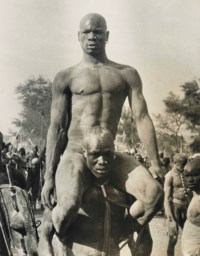 Wrestler, Korongo Nuba of Kordofan, South Sudan, 1949