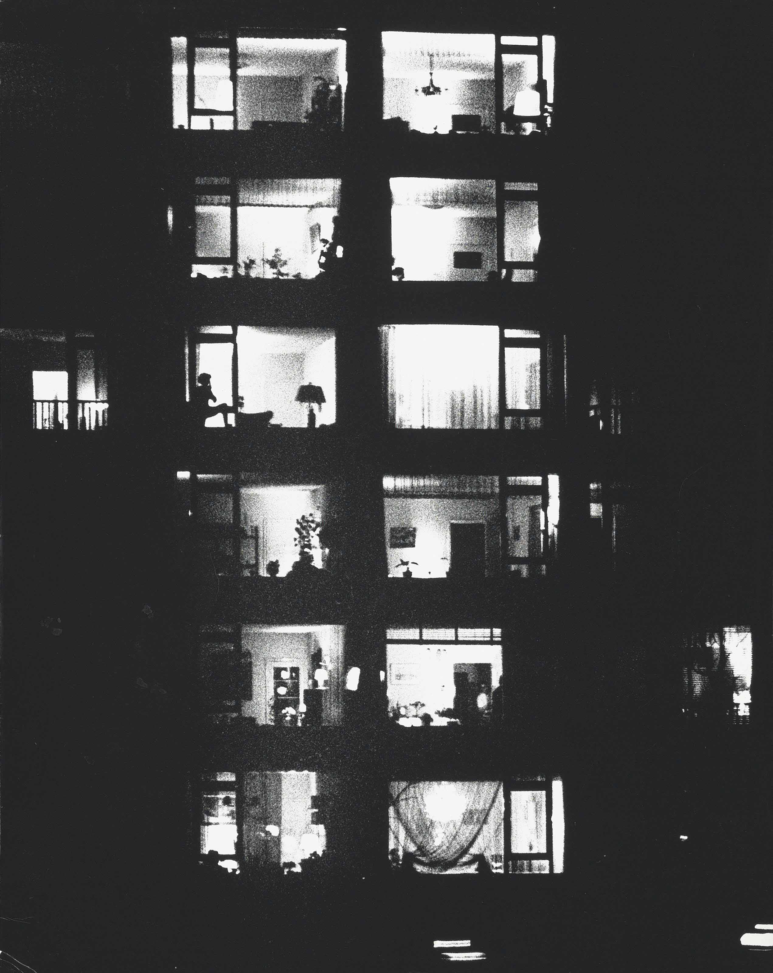 Untitled (Illuminated building at night), c. 1960