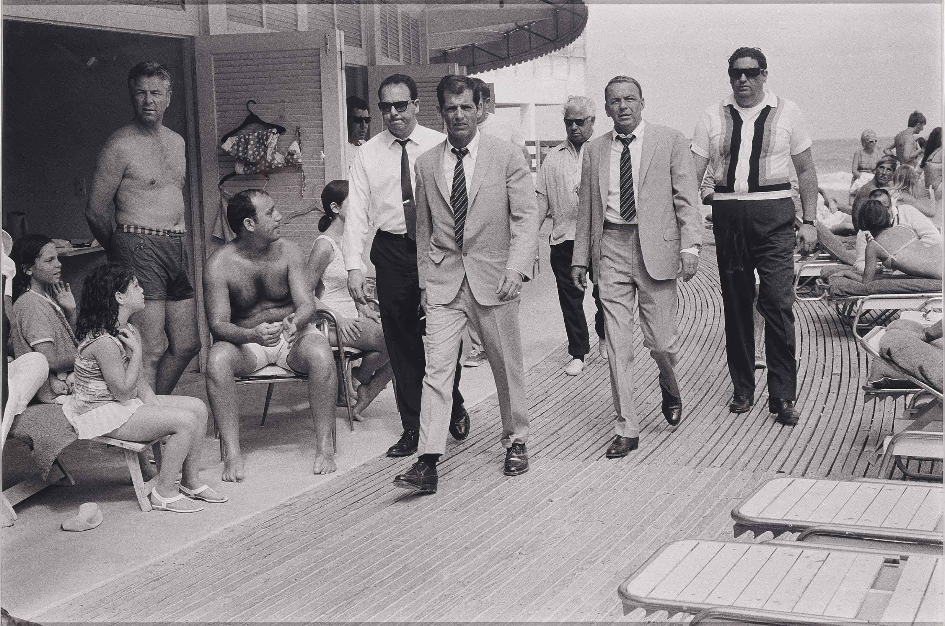 Frank Sinatra and Bodyguards, Miami Beach, 1968