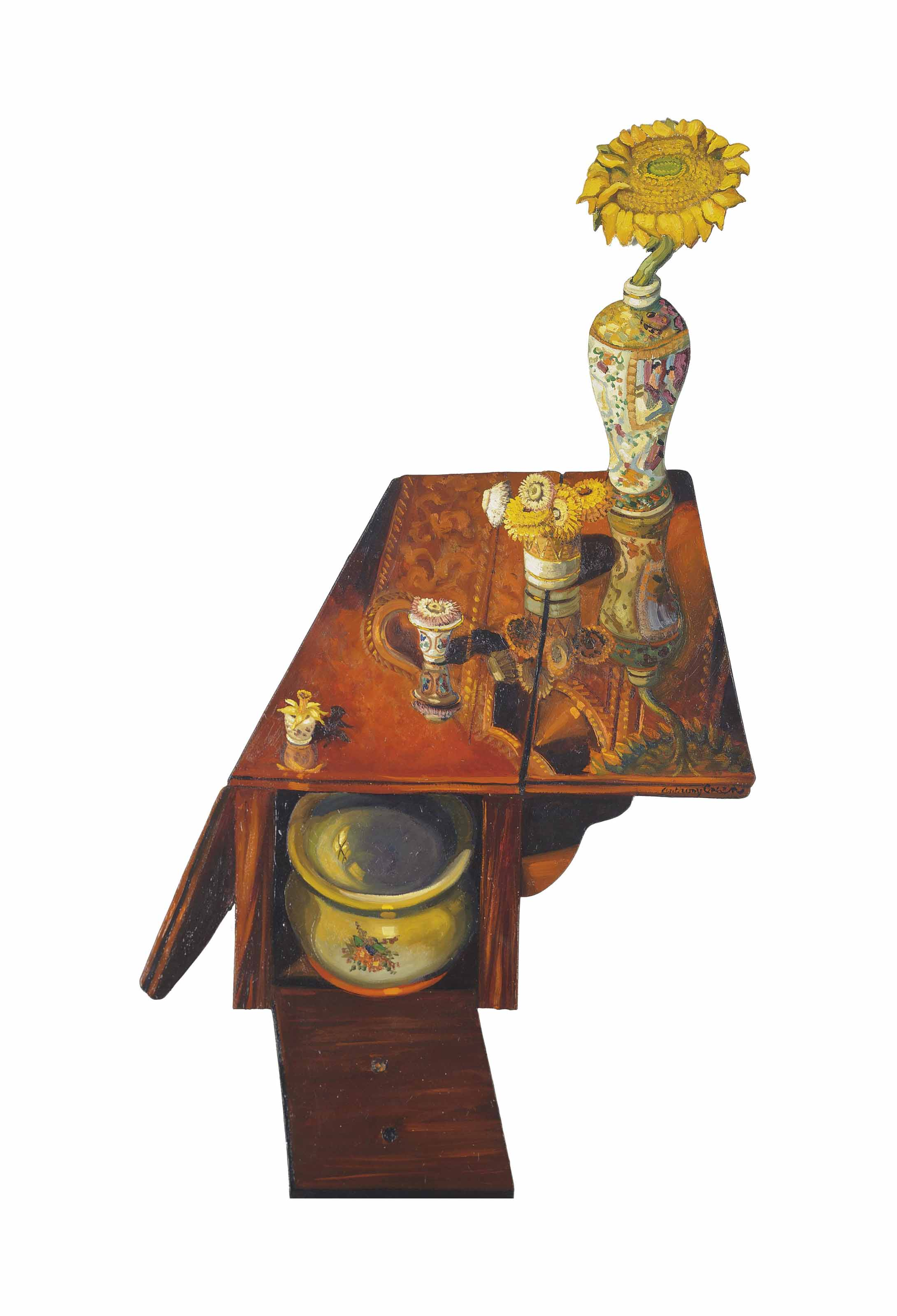 Ada Green's Bedside Table and Sunflower
