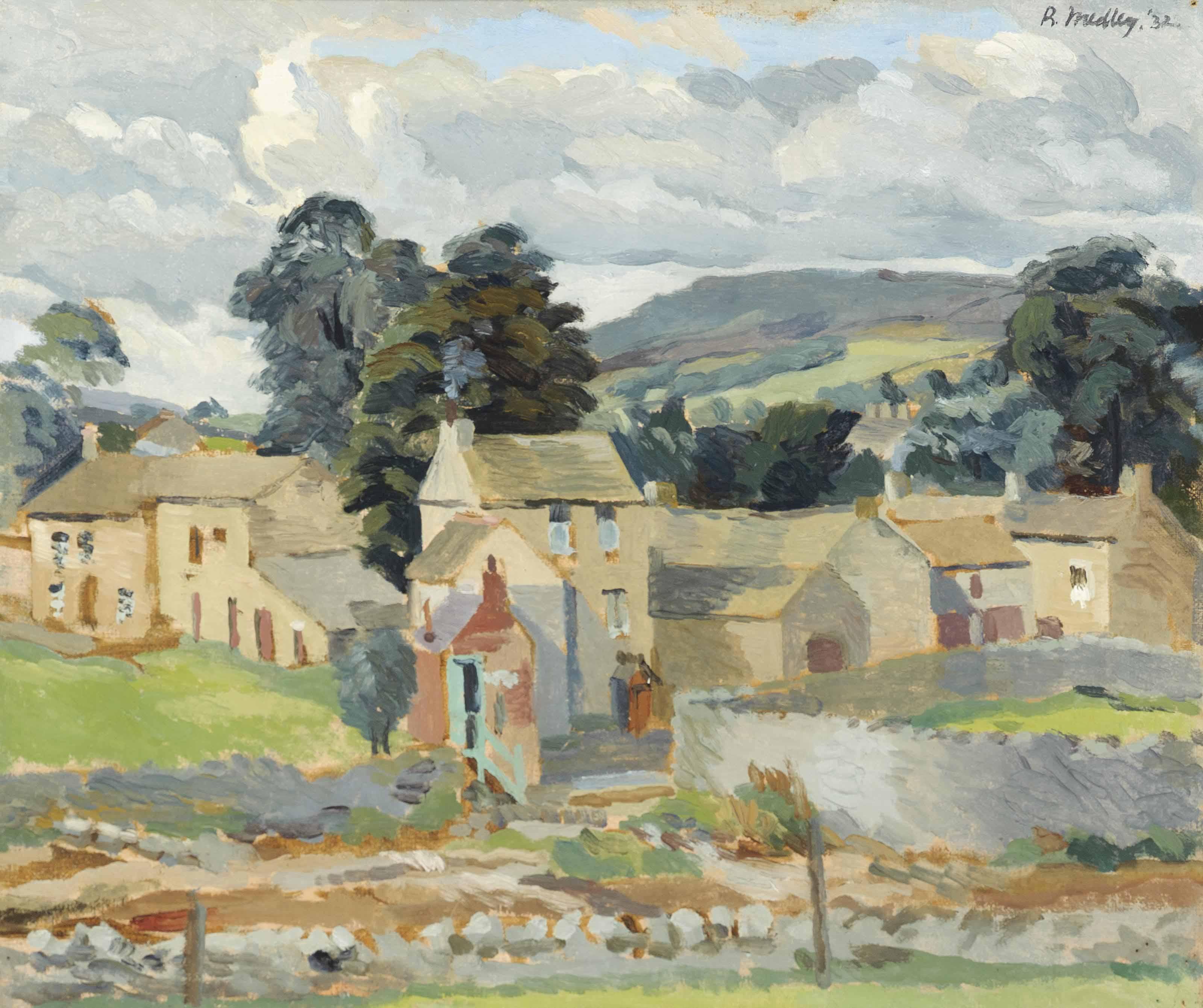 Farm Buildings, Bainbridge (recto); Half-length study of a girl (verso)