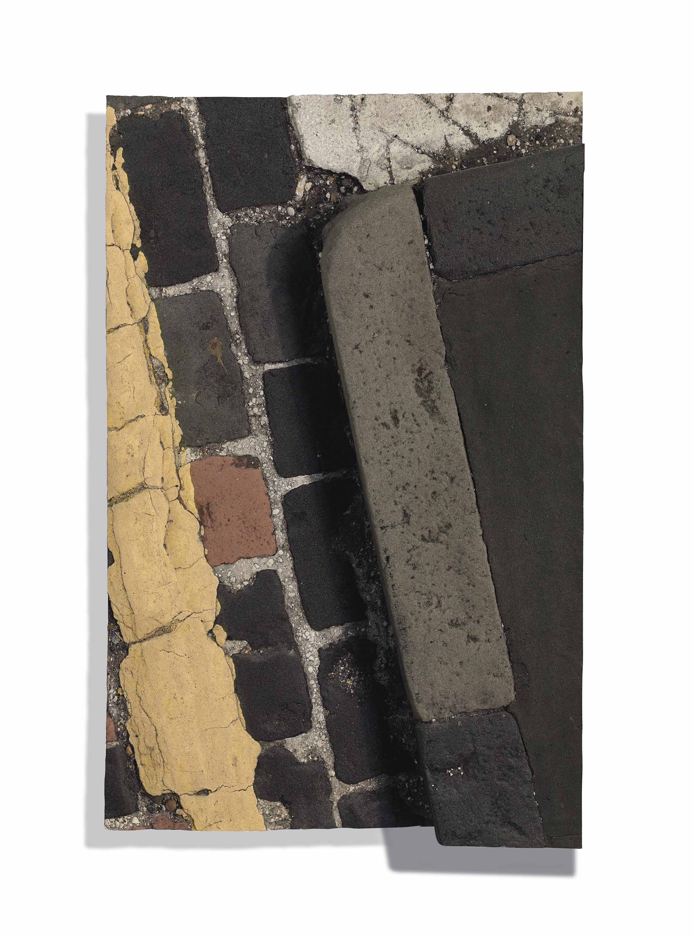 Study for Westminster Series with kerb, yellow parking line & cobbles
