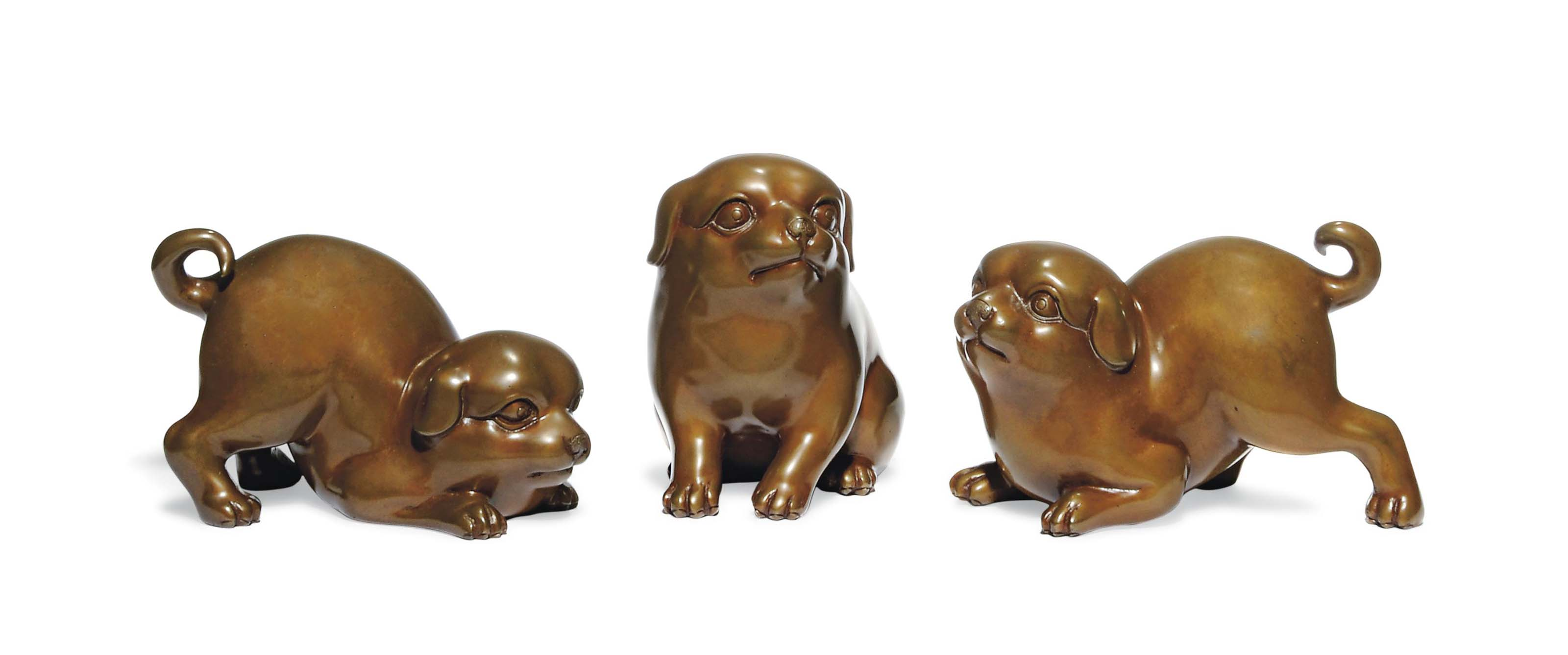 A Group of Japanese Bronze Oki