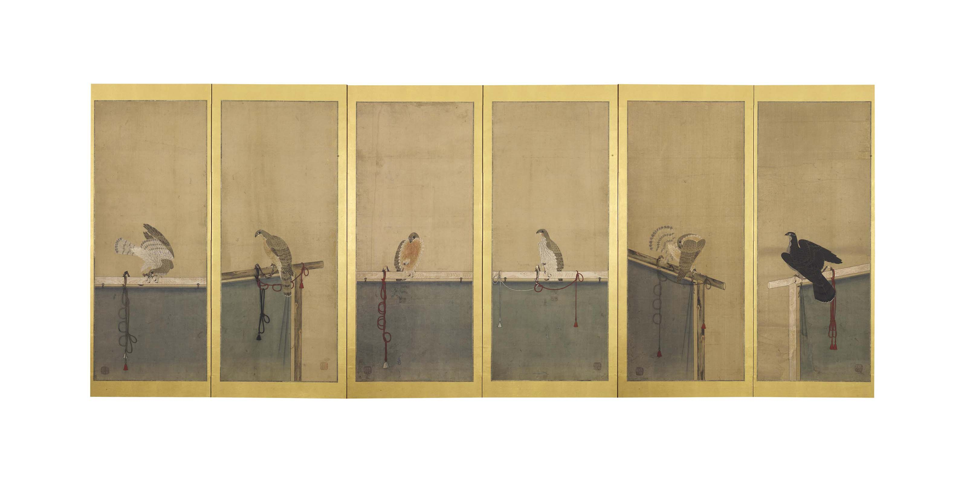 A Japanese Six-Fold Screen