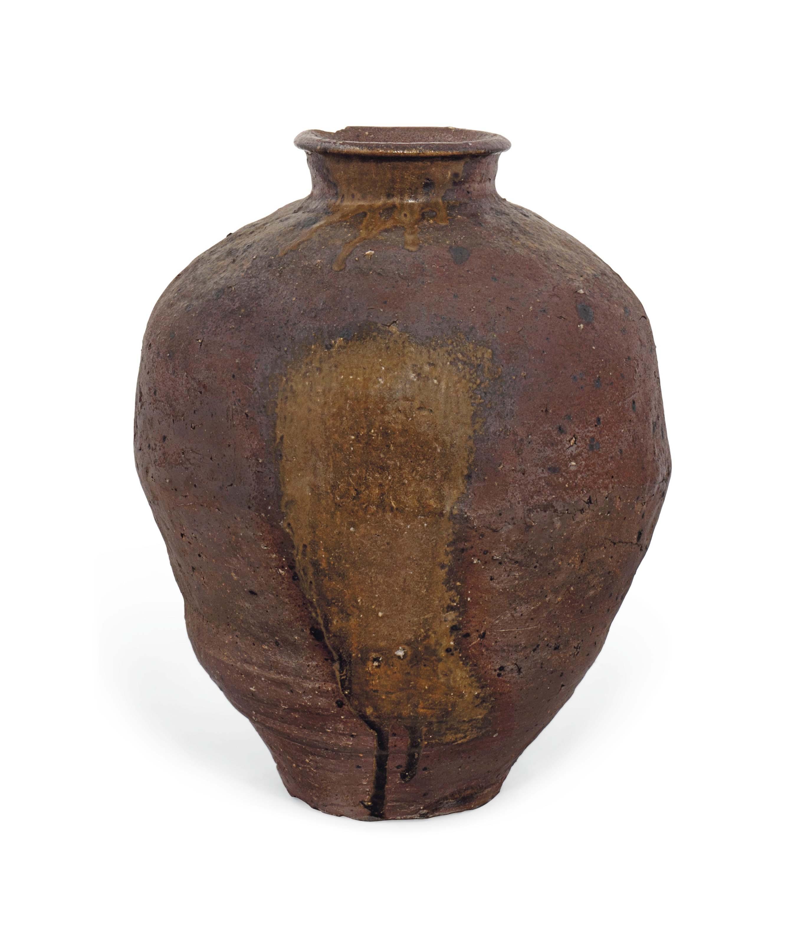 A Japanese Shigaraki Jar
