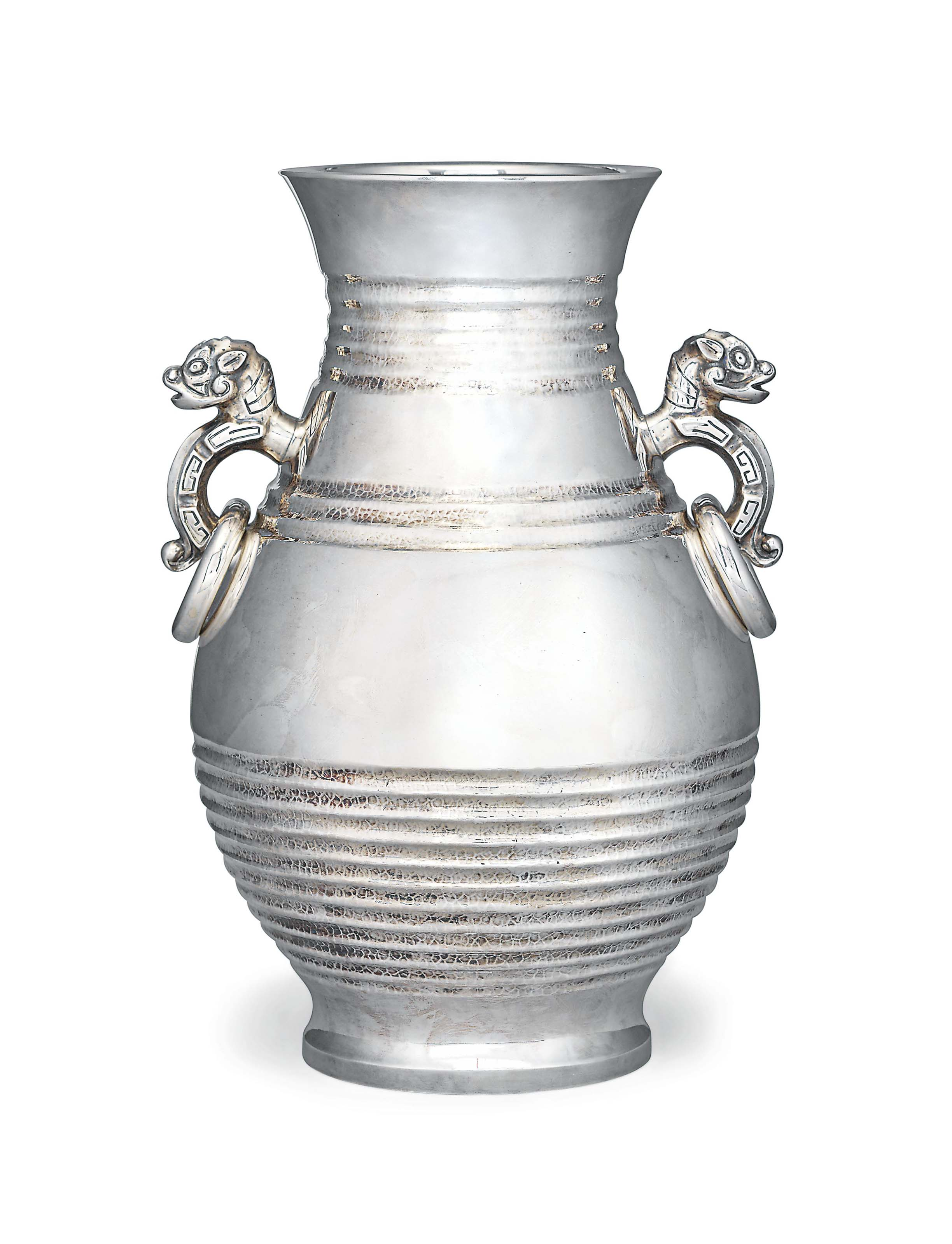 A Japanese Large Silver Vase