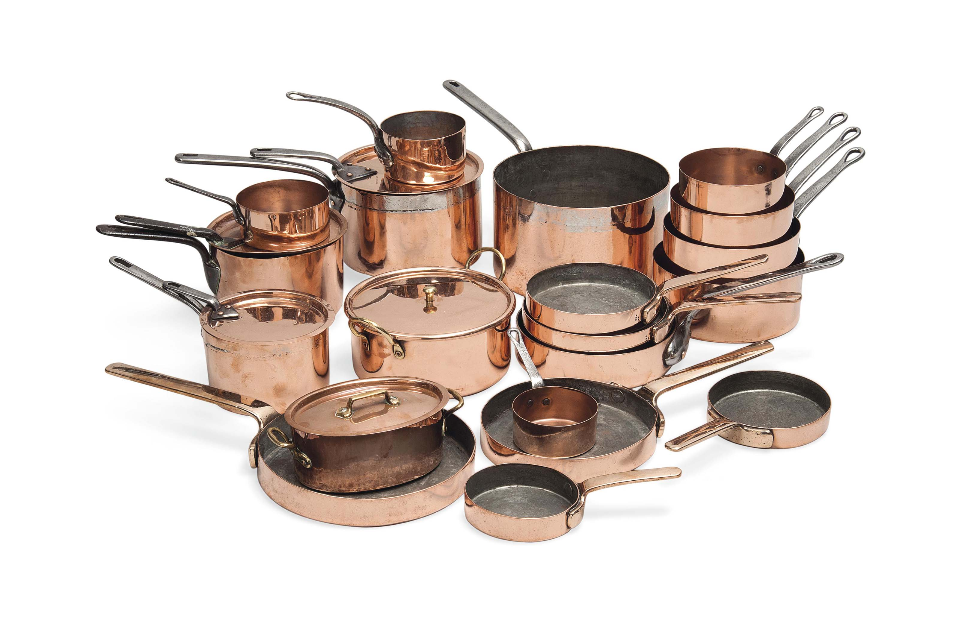 TWO SETS OF GRADUATED COPPER S