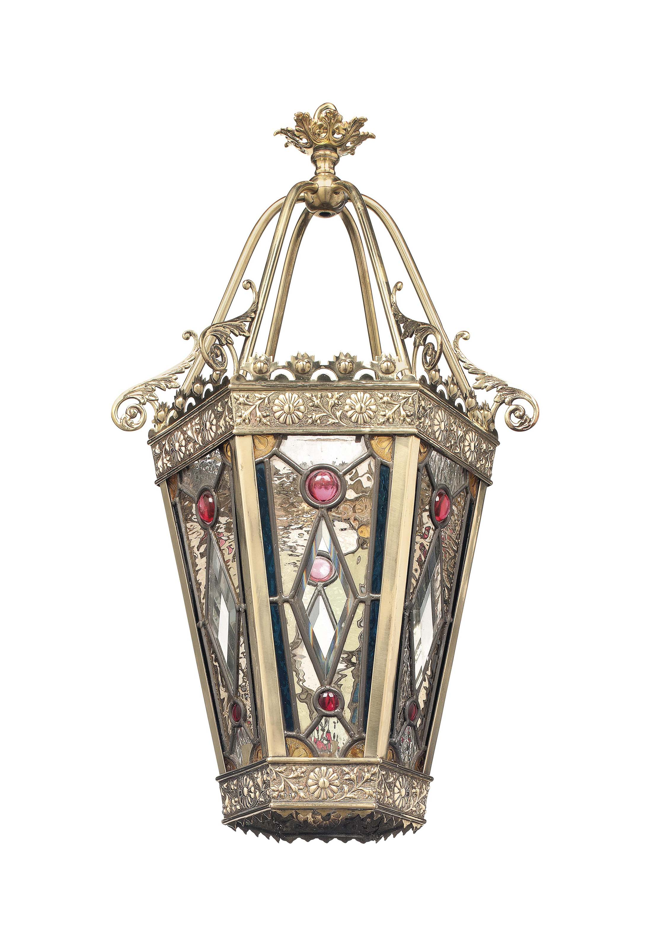A VICTORIAN BRASS AND LEADED G