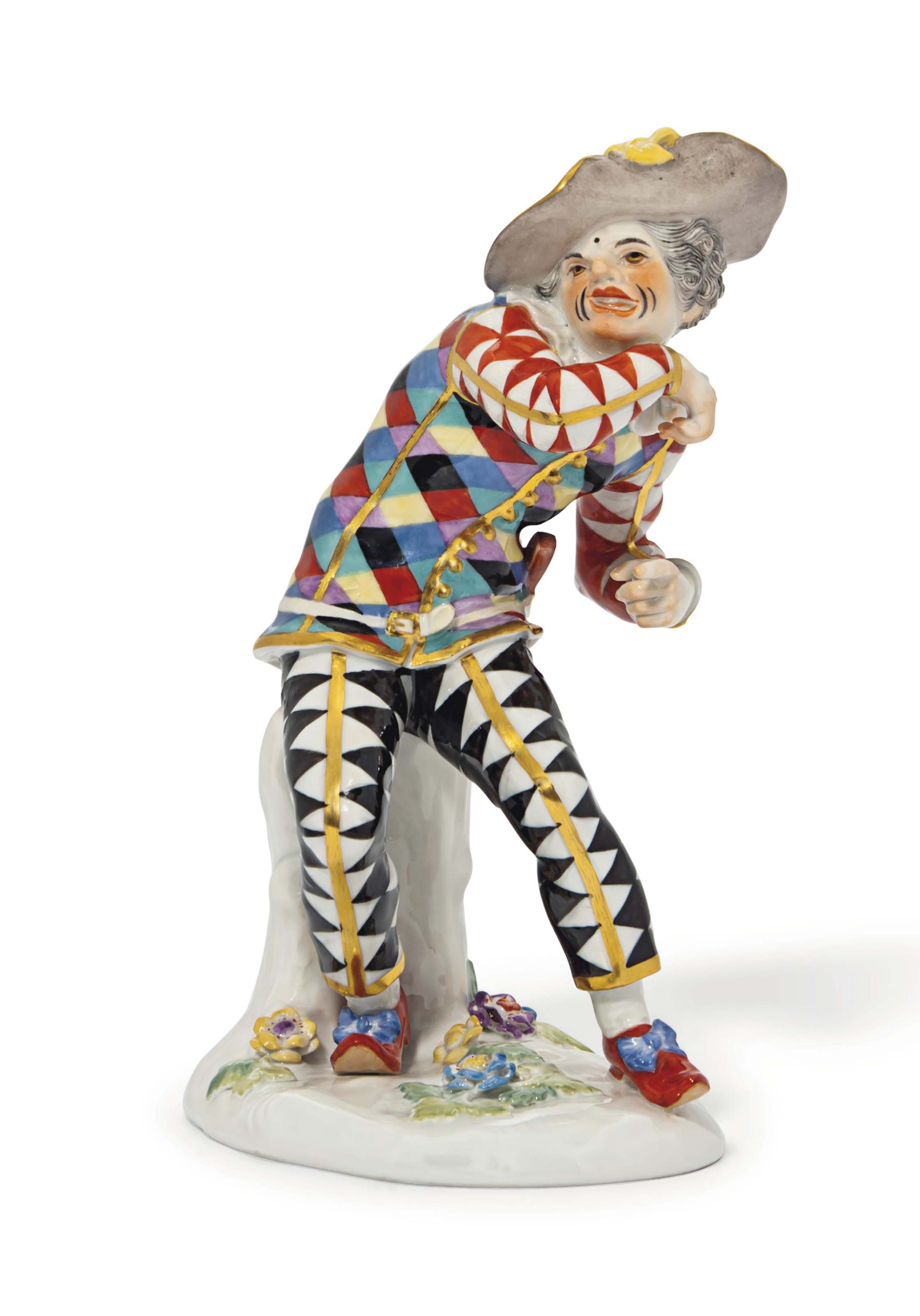 A MEISSEN FIGURE OF THE GRIMAC