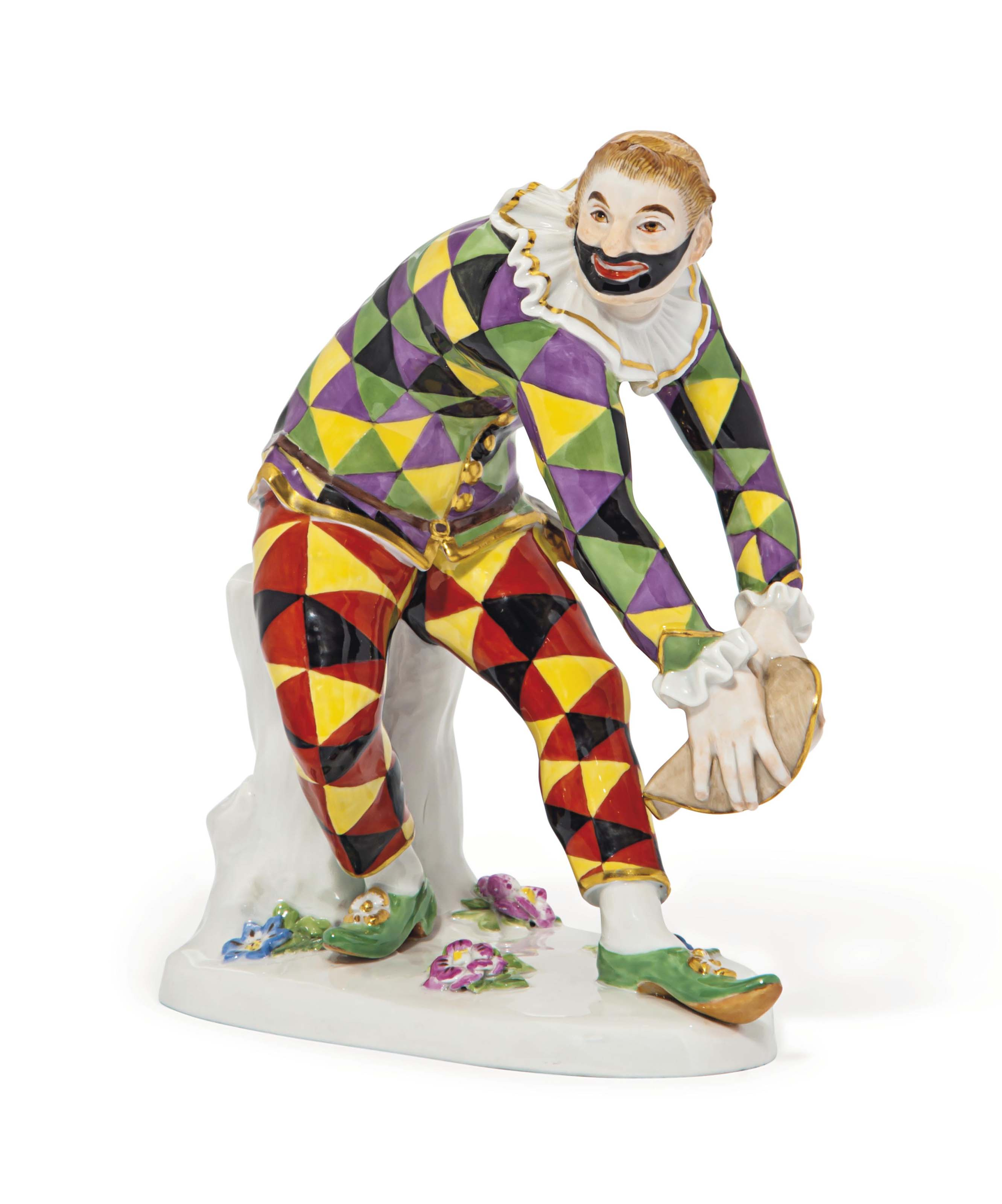 A MEISSEN FIGURE OF THE GREETI