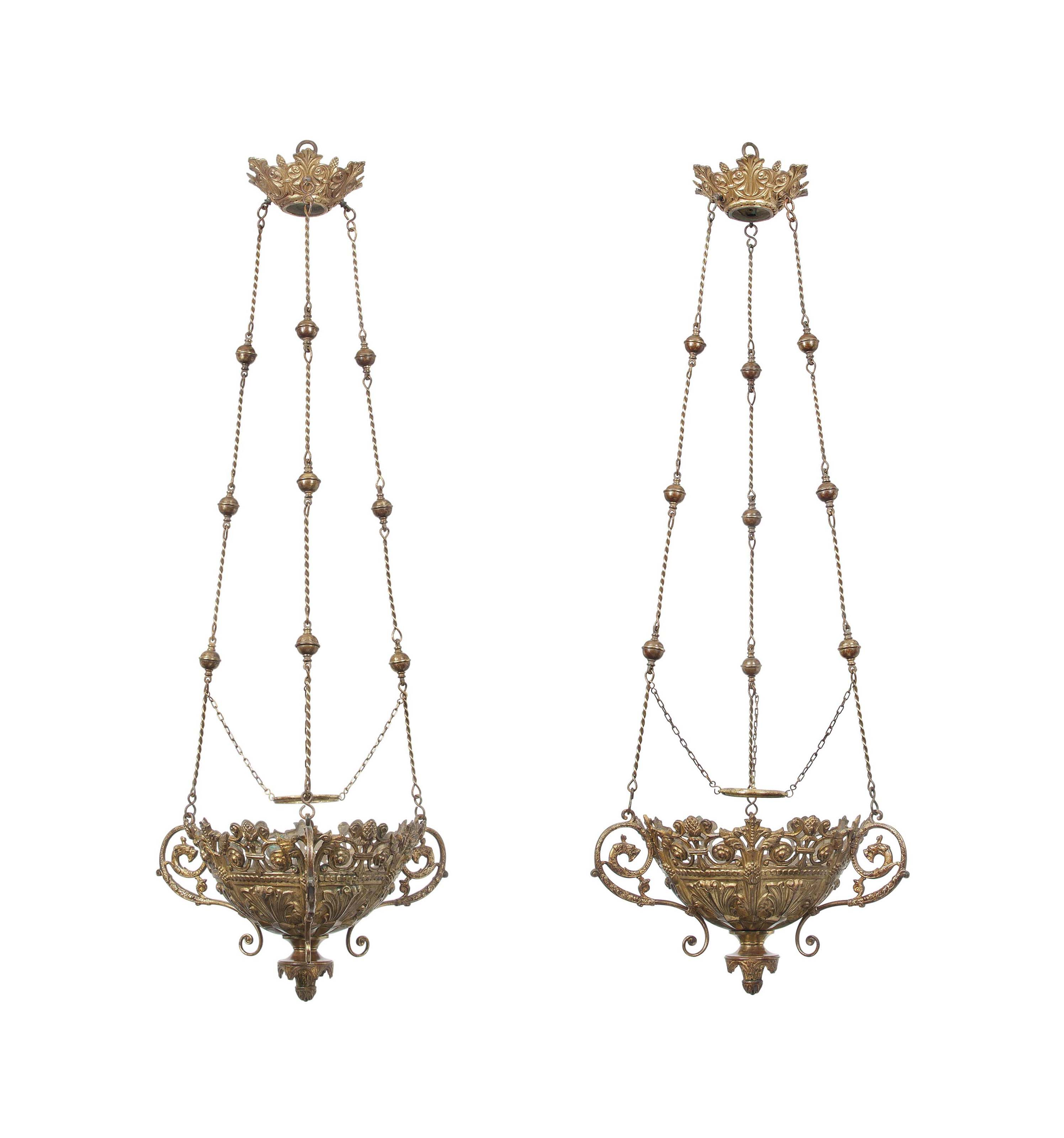 A PAIR OF FRENCH GILT-BRONZE H
