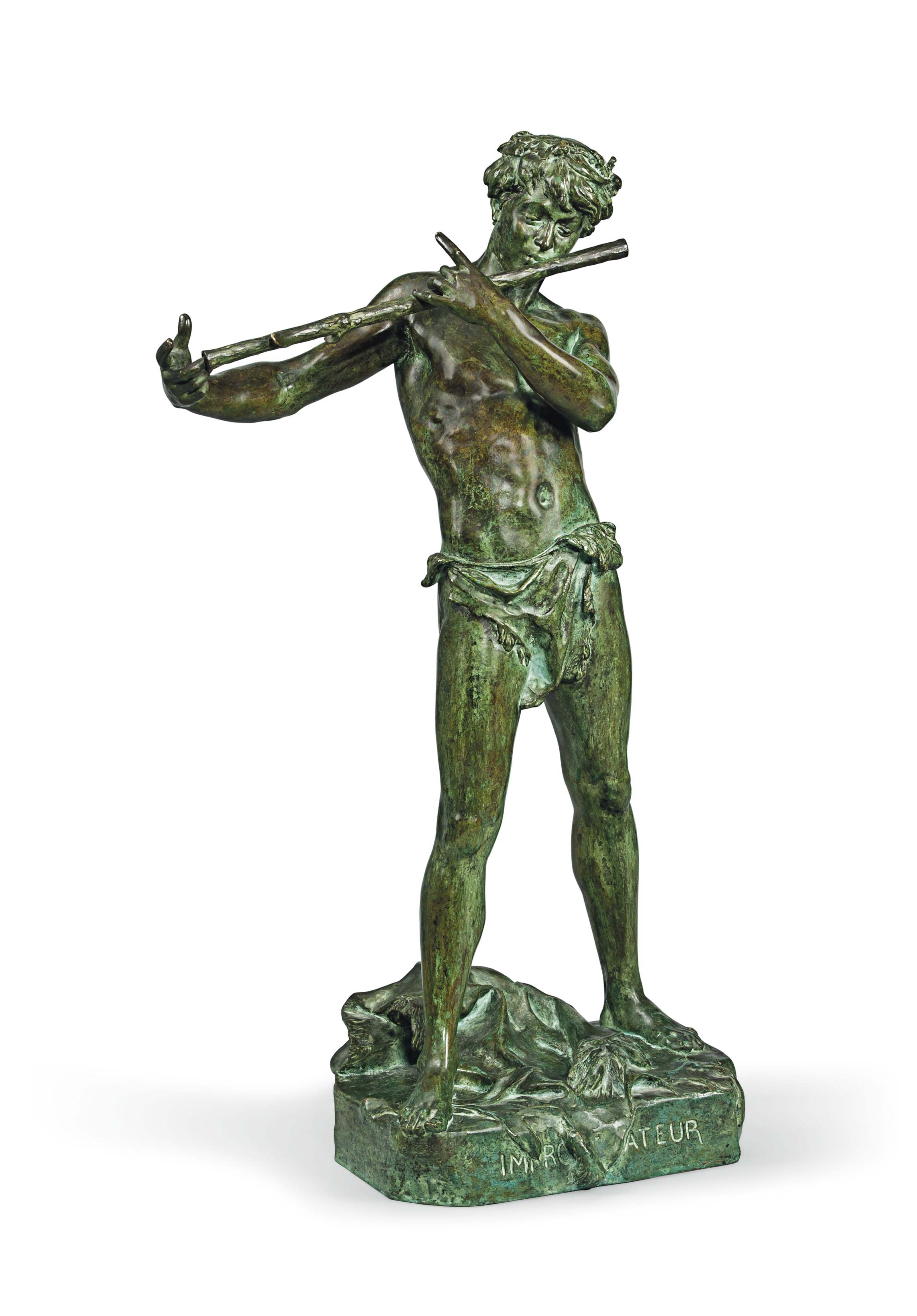 A FRENCH BRONZE MODEL OF PAN E