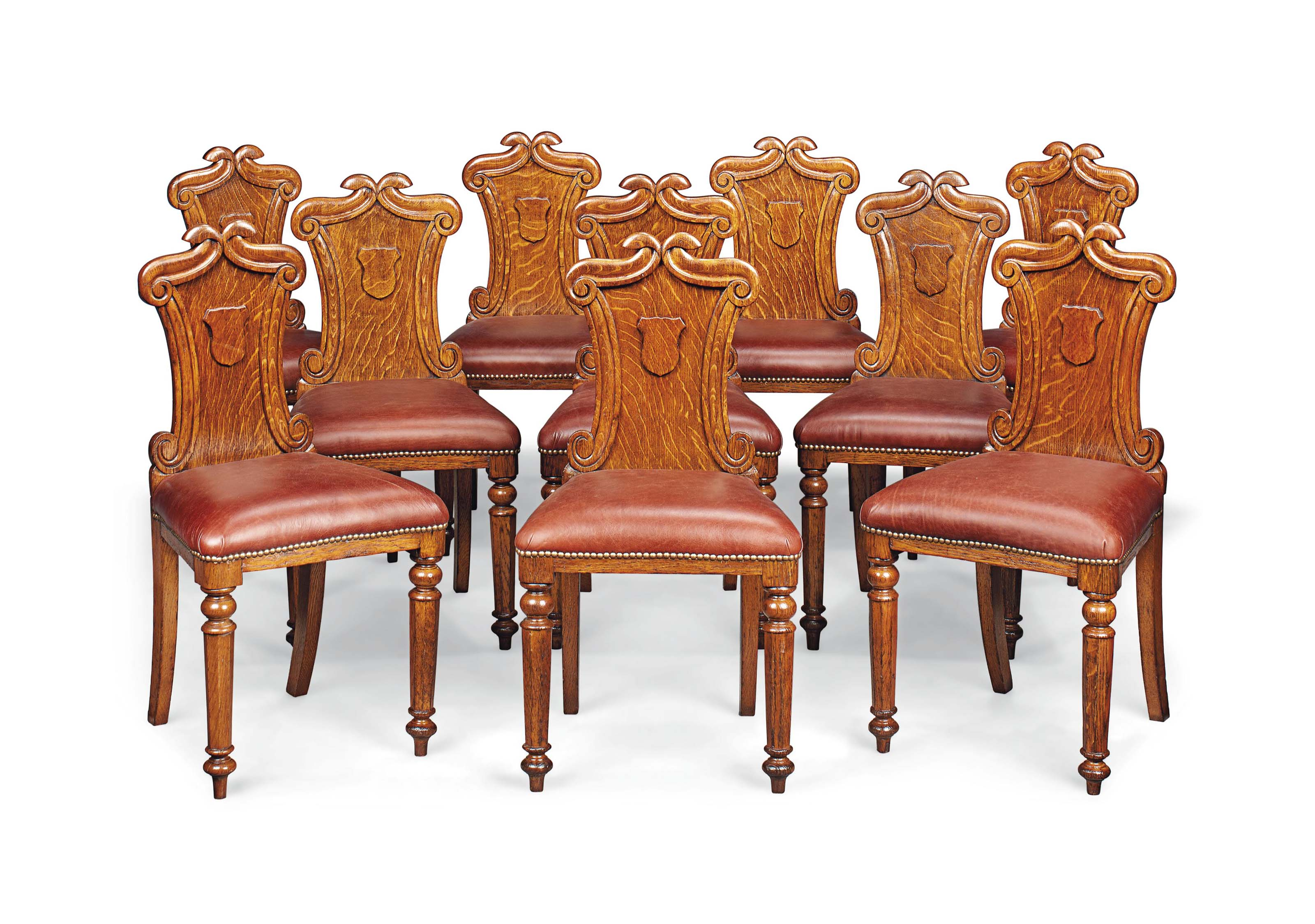 A SET OF TEN EARLY VICTORIAN O