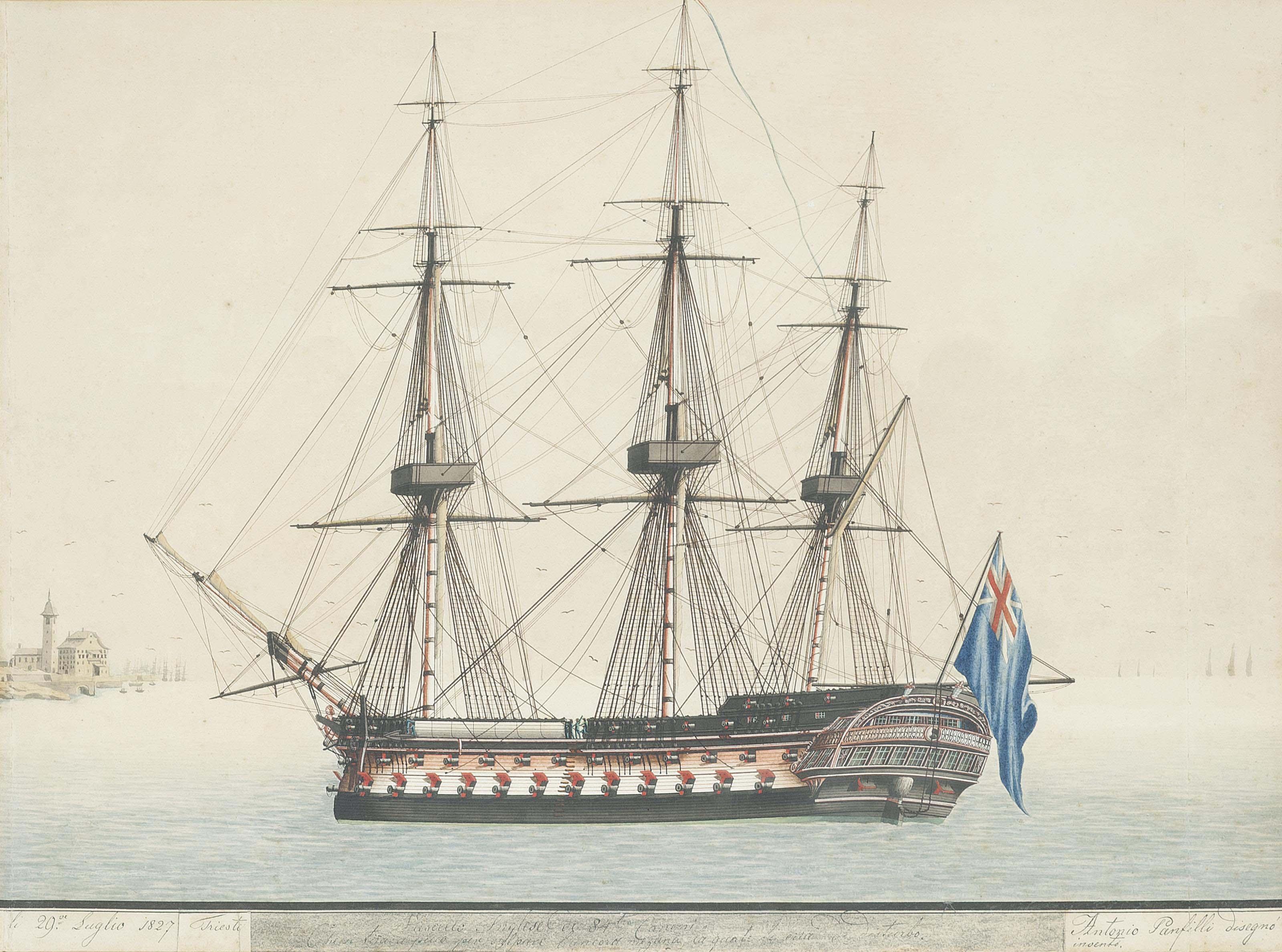 The English barque Robert & Ann leaving Malta