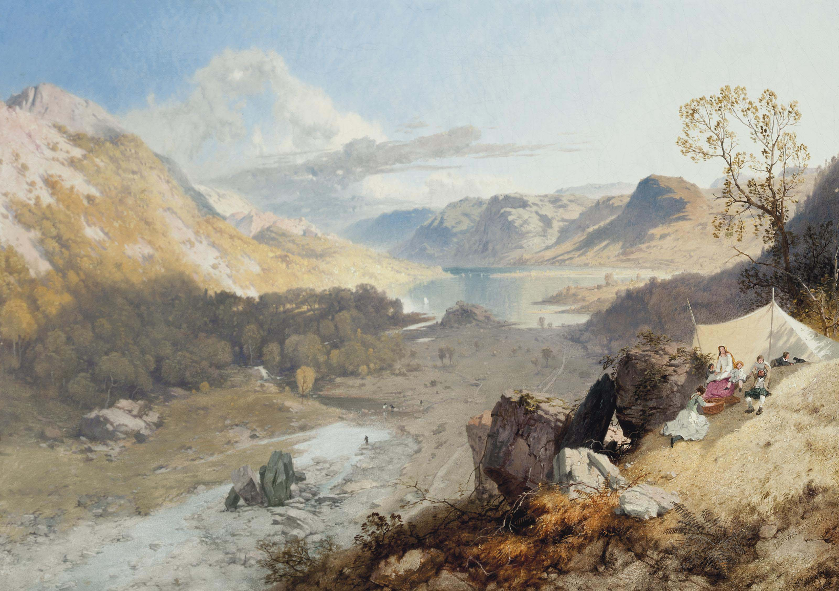 Picnic by Wythburn water, Thirlmere valley