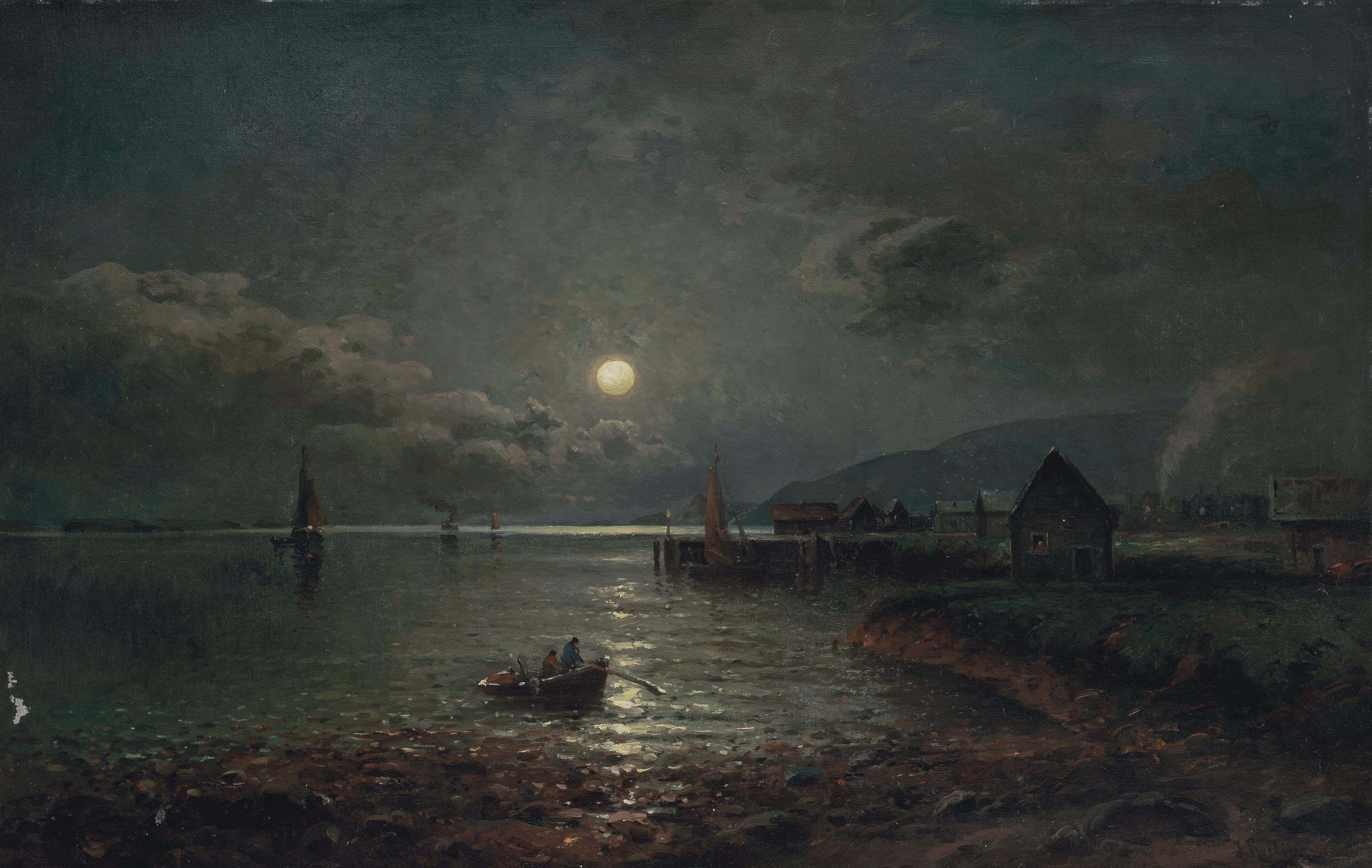 Coming ashore under the moon